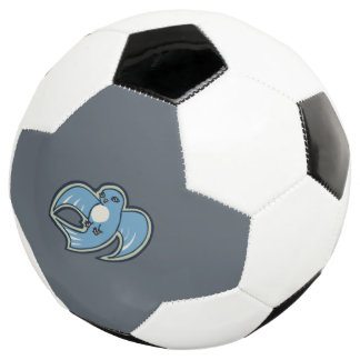 Sweet Blue And White Bird Ink Drawing Design Soccer Ball