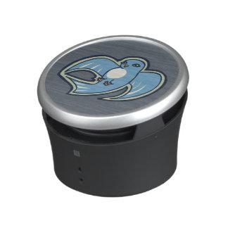 Sweet Blue And White Bird Ink Drawing Design Speaker