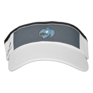 Sweet Blue And White Bird Ink Drawing Design Visor