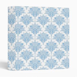 Sweet Blue and White Damask Pattern Binder