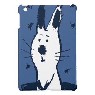 Sweet Blue and White Rabbit iPad Mini Case
