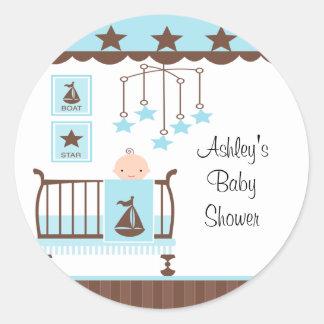 Sweet Blue Baby Room Baby Shower Sticker