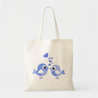 Sweet Blue Birds Tote Bag