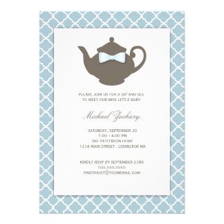 Sweet Blue | Brown Teapot Baby Sip and See Tea Cards