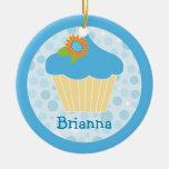 Sweet Blue Cupcake Ornament