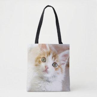 Sweet Blue Eyed Kitty Tote Bag