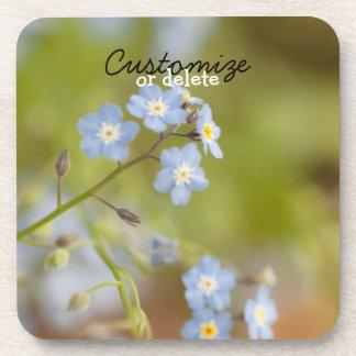 Sweet Blue Flowers; Customizable Coaster