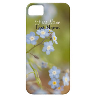 Sweet Blue Flowers; Customizable iPhone SE/5/5s Case