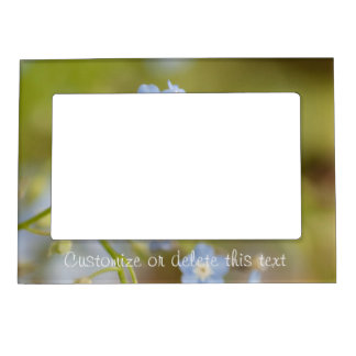 Sweet Blue Flowers; Customizable Magnetic Frame