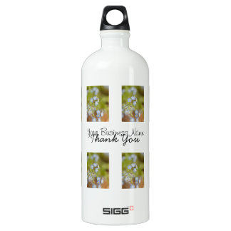 Sweet Blue Flowers; Promotional Aluminum Water Bottle