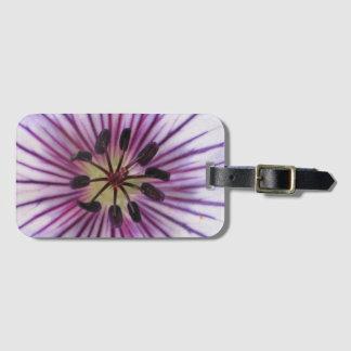 Sweet Blue Geranium Flower Detail Luggage Tag