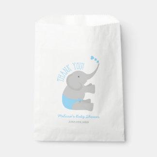 Sweet Blue Gray Elephant Baby Shower Favor Bag
