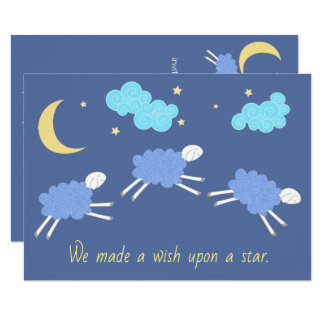 Sweet Blue Lullaby Baby Shower Card