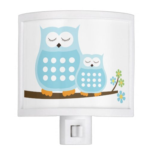 Sweet Blue Owls Night Light
