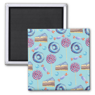 Sweet Blueberry Treats Pattern Magnet