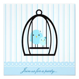 Sweet Bluebirds Party Invitation