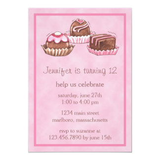 Sweet Bon Bons Birthday Party Invitation