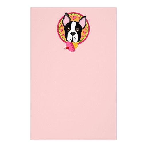 Sweet Boston Terrier Stationery