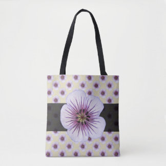 Sweet Botanical Floral Blue on any Color Tote Bag
