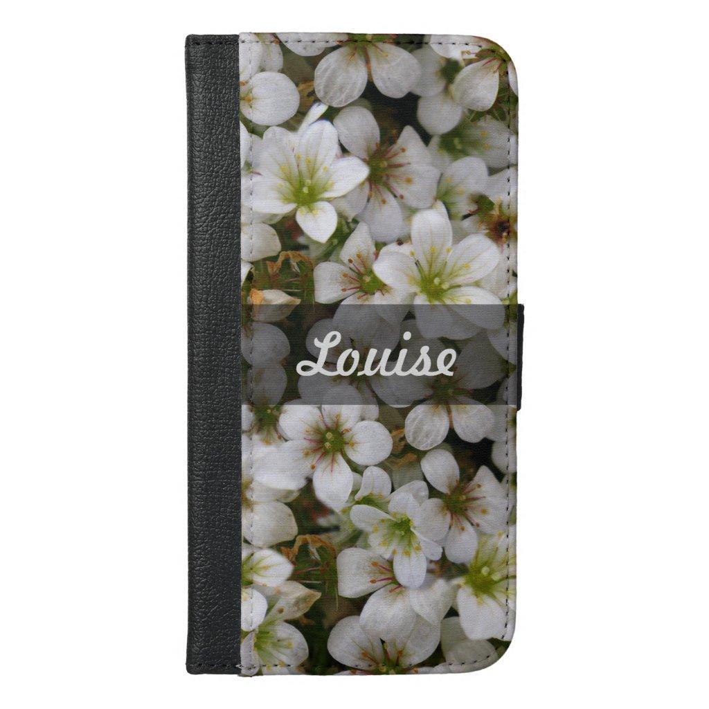 Sweet Botanical White Flowers Photo any Name