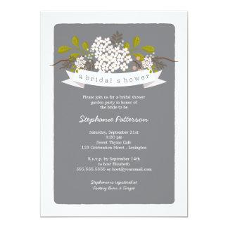 Sweet Bouquet Garden Party Bridal Shower Card