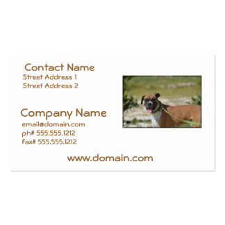 Sweet Boxer Double-Sided Standard Business Cards (Pack Of 100)