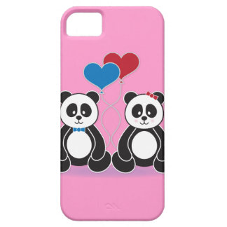 Sweet Boy and Girl Pandas in Love iPhone 5 Cases