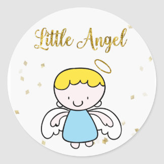 Sweet Boy Angel Classic Round Sticker
