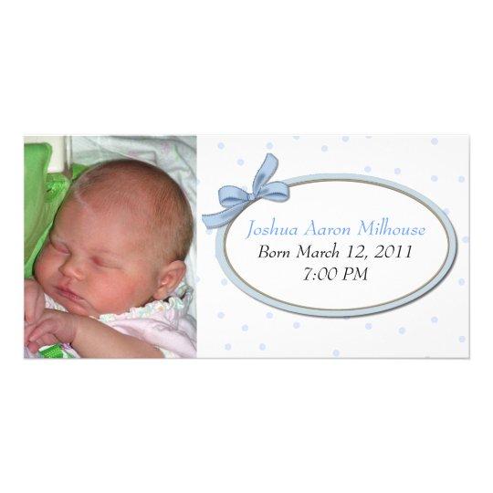 Sweet Boy Birth Announcement Photo Card