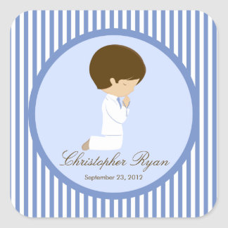 Sweet Boy First Holy Communion Sticker Blue