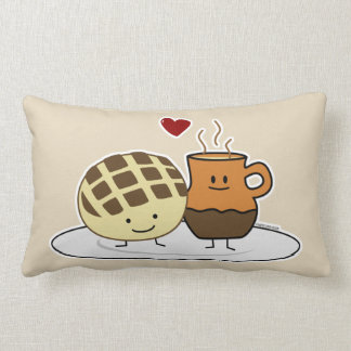 Sweet Bread and Hot Chocolate Pan caliente Mexican Lumbar Pillow