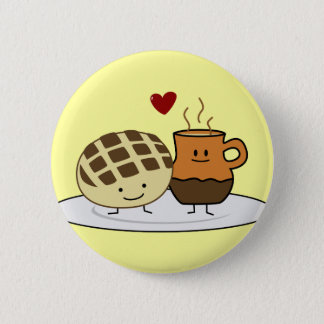 Sweet Bread and Hot Chocolate Pan caliente Mexican Pinback Button