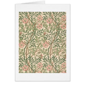 'Sweet Briar' design for wallpaper, printed by Joh Greeting Card