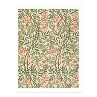 'Sweet Briar' design for wallpaper, printed by Joh Postcard
