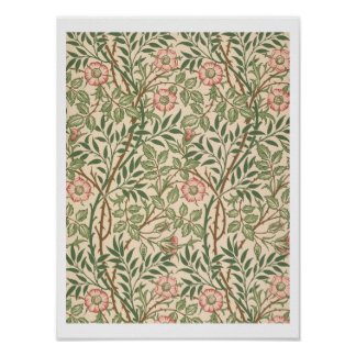 'Sweet Briar' design for wallpaper, printed by Joh Poster