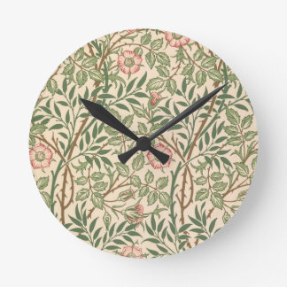 'Sweet Briar' design for wallpaper, printed by Joh Round Clock