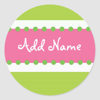 Sweet Briar Girl Birthday Sticker Pink and Green