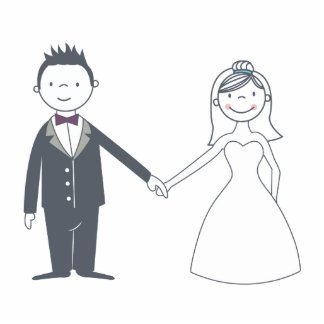 Sweet Bride & Groom Cake Topper Photo Cut Out