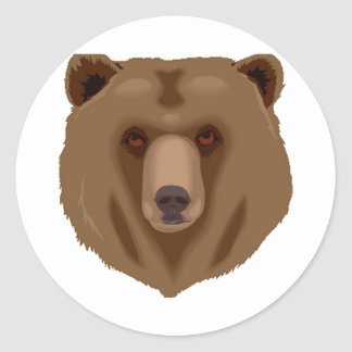 Sweet Brown Bear Classic Round Sticker
