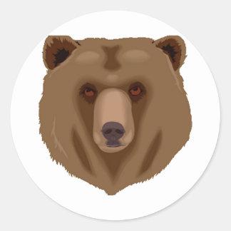 Sweet Brown Bear Classic Round Sticker
