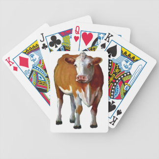 Sweet Brown Cow: Oil Pastel Art: Dairy, Beef Bicycle Playing Cards