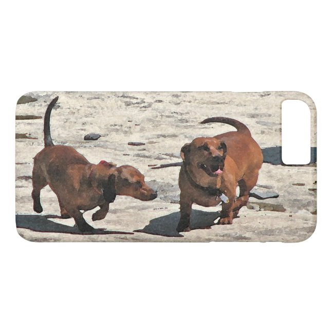 Sweet Brown Dachshund Dogs iPhone 8/7 Plus Case