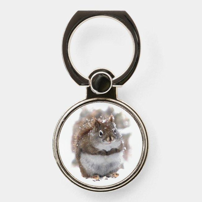 Sweet Brown Squirrel Phone Ring Holder
