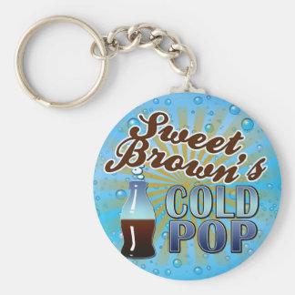 Sweet Brown's Cold Pop Basic Round Button Keychain