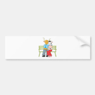 Sweet Bull and Cow Lovers Bumper Sticker