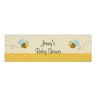 Sweet Bumble Bee Baby Shower Banner Sign