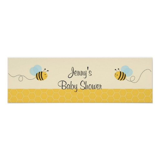 Sweet Bumble Bee Baby Shower Banner Sign Print