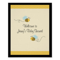 Sweet Bumble Bee Baby Shower Sign