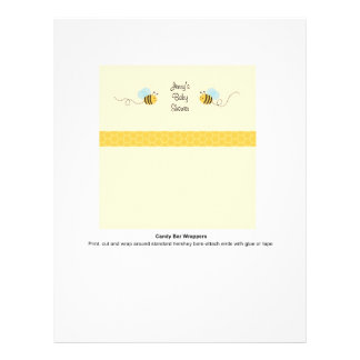 """Sweet Bumble Bee Candy Bar Wrappers 8.5"""" X 11"""" Flyer"""