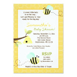"Sweet Bumble Bee Mommy to Bee Baby Shower Invite 5"" X 7"" Invitation Card"